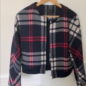 J Crew Plaid Bomber Jacket